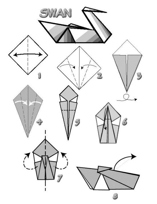 origami labud