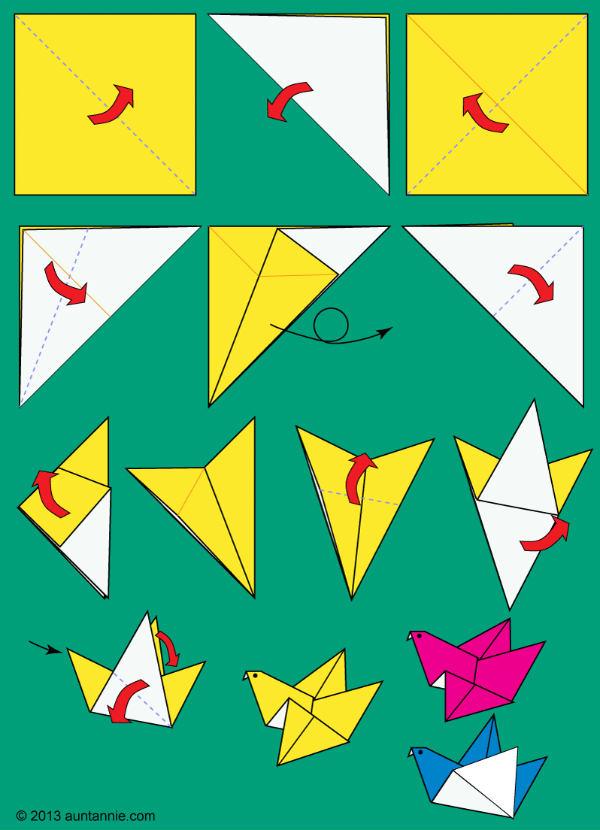 origami ptica