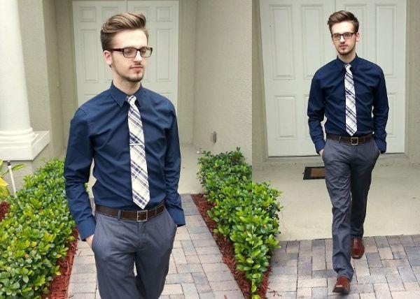 Sive pantalone su odlične i za muškarce, naročito u kombinaciji sa braon cipelama