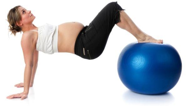 Najlakše vežbe sa loptom za trudnice.