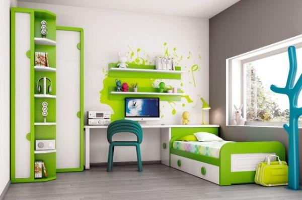 zelena decija soba