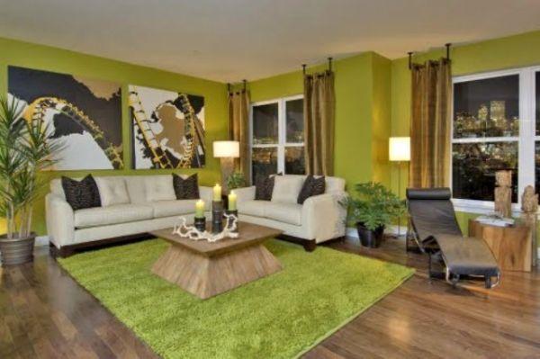 zelena dnevna soba