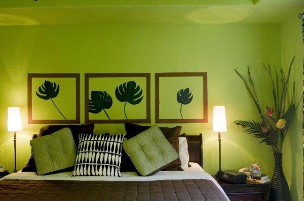 zelena spavaca soba