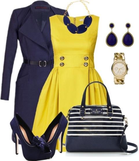 zuta-haljina-kombinacije