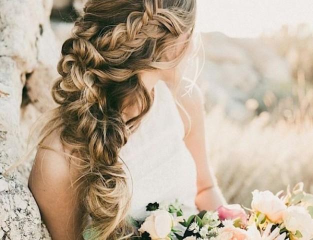 frizure za venčanje pletenica