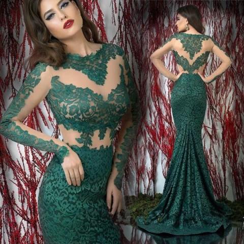 zelene čipkaste haljine