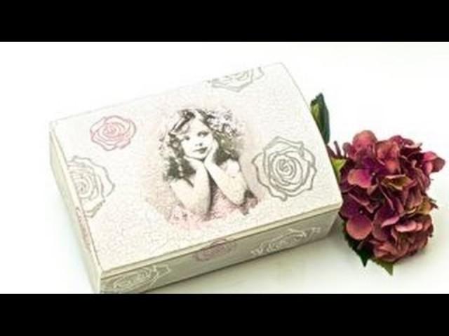 drvena kutija za poklone dekupaž 4